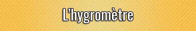 El higrómetro