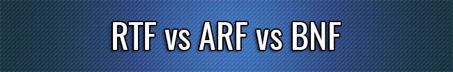 RTF frente a ARF frente a BNF