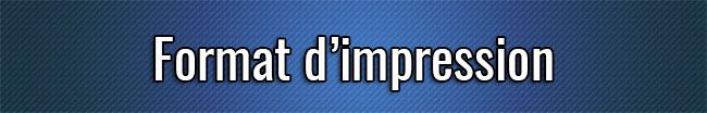 Format d'impression