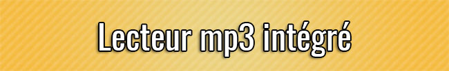 Lecteur mp3 intégré