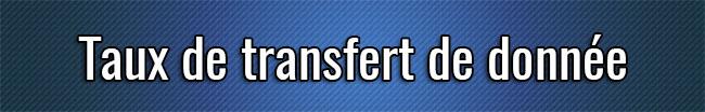 Tasa de transferencia de datos