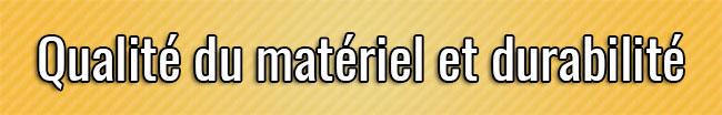 Calidad y durabilidad del material
