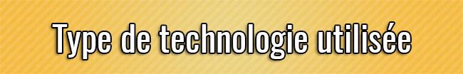 Tipo de tecnología utilizada