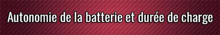 Duración de la batería y tiempo de carga