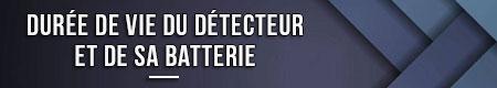 vida útil del detector y su batería