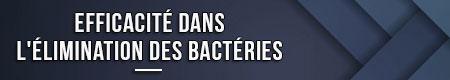 Efectividad en la eliminación de bacterias.
