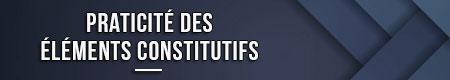 Conveniencia de los elementos constitutivos